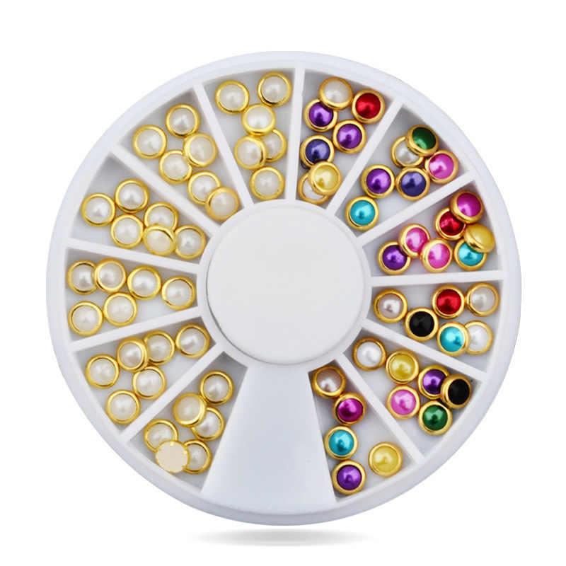2018 coloré brillant rond ultra-mince paillettes coloré Nail Art paillettes conseils UV Gel 3D ongles décoration manucure bricolage accessoire chaud