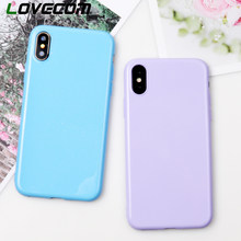 LOVECOM For Huawei Honor 8 9 10 P20 P10 Lite Glitter Solid Color Candy Phone Case For iphone X 6 6S 7 8 Plus 5S XS MAX XR Xiaomi(China)