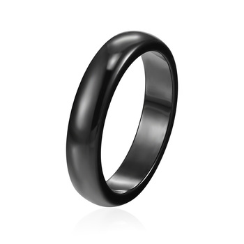 Wholesale wide 4mm And 6mm Top Quality Fashion Beautiful Black White Pink Smooth Ceramic Ring For Women And Girls Anillo