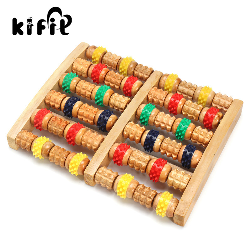 цена на KIFIT Wooden Foot Body Roller Wood Care Wheel Massage Reflexology Relax Relief Massager Tool Health Care Tool