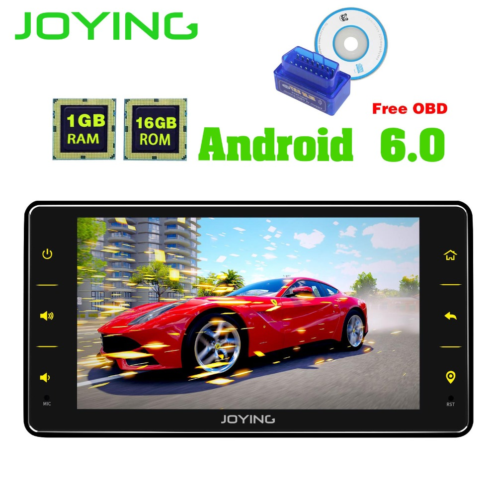 6.2Joying Single 1 Din Universal Android Car Stereo Radio GPS Navigation Player Head Unit Support WIFI Video Out Tape Recorder