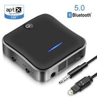 2 in 1 Bluetooth 5.0 Receiver Transmitter SPDIF/3.5mm Jack/RCA Hifi Stereo Wireless Audio Adapter Receptor for TV/Computer/Car