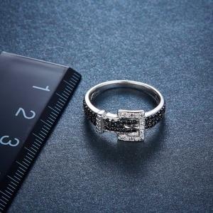 Image 3 - Hutang יהלומי חתונת טבעות טבעי חן ספינל 925 סטרלינג כסף חגורת צורת טבעת בסדר אבן תכשיטי עבור נשים בנות חדש