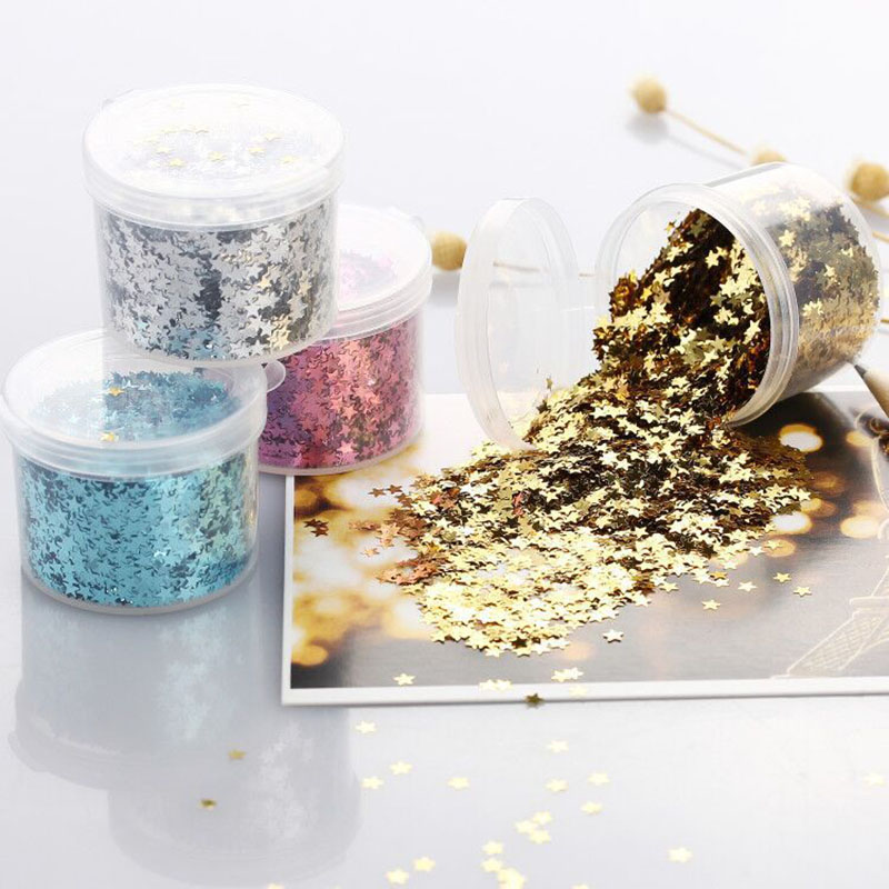 3mm Mini Star DIY Glittering Confetti Sequins Wedding Decoration Paillettes for Nail Sewing DIY Crafts Confetti Ball Filled