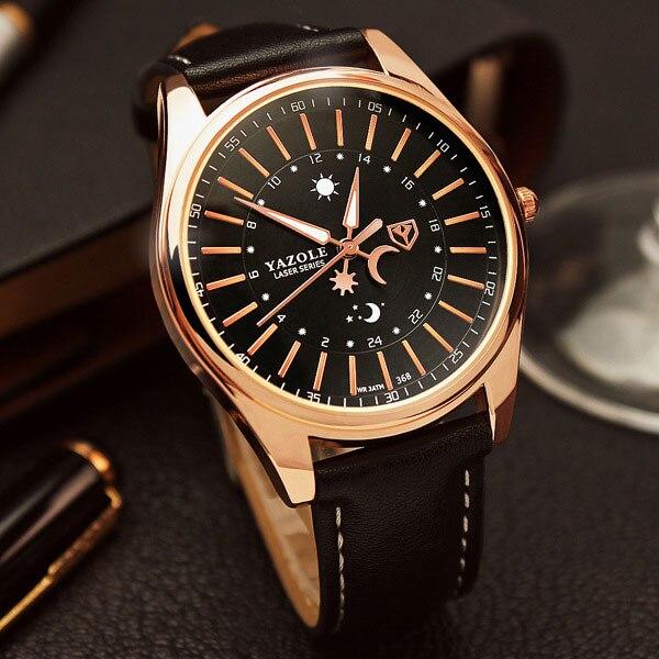 YAZOLE reloj hombres 2017 Top marca de lujo famoso reloj hombre reloj de cuarzo reloj Hodinky reloj de cuarzo Relogio Masculino