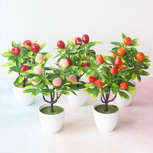 1 шт., искусственные растения, бонсай, маленький горшок для дерева, растения, искусственные цветы, украшения в горшках для украшения дома, декор для сада отеля с горшком