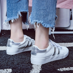 Image 5 - Women Sneakers Leather Shoes Trend Casual Flats Sneakers Female New Fashion Comfort Stiped Breathable Style Vulcanized Shoes