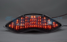 CLEAR Lens  LED Integrated Turn signal Motorcycle Tail Light for KAWASAKI 2011-2012 Z1000/NINJA 1000R