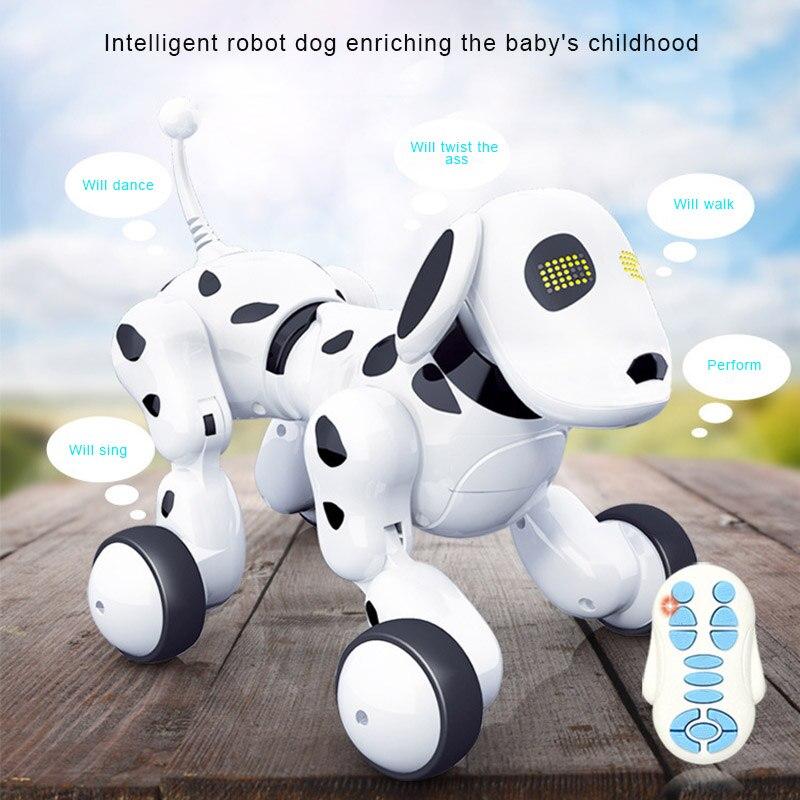 rc robo inteligente cao eletrico de controle remoto sem fio brinquedo cantar danca andando para criancas