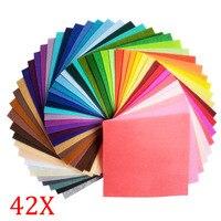 42 Pcs Lot Felt Fabric 1mm Thickness Cloth Felts DIY Bundle For Sewing Dolls Crafts 20x30cm