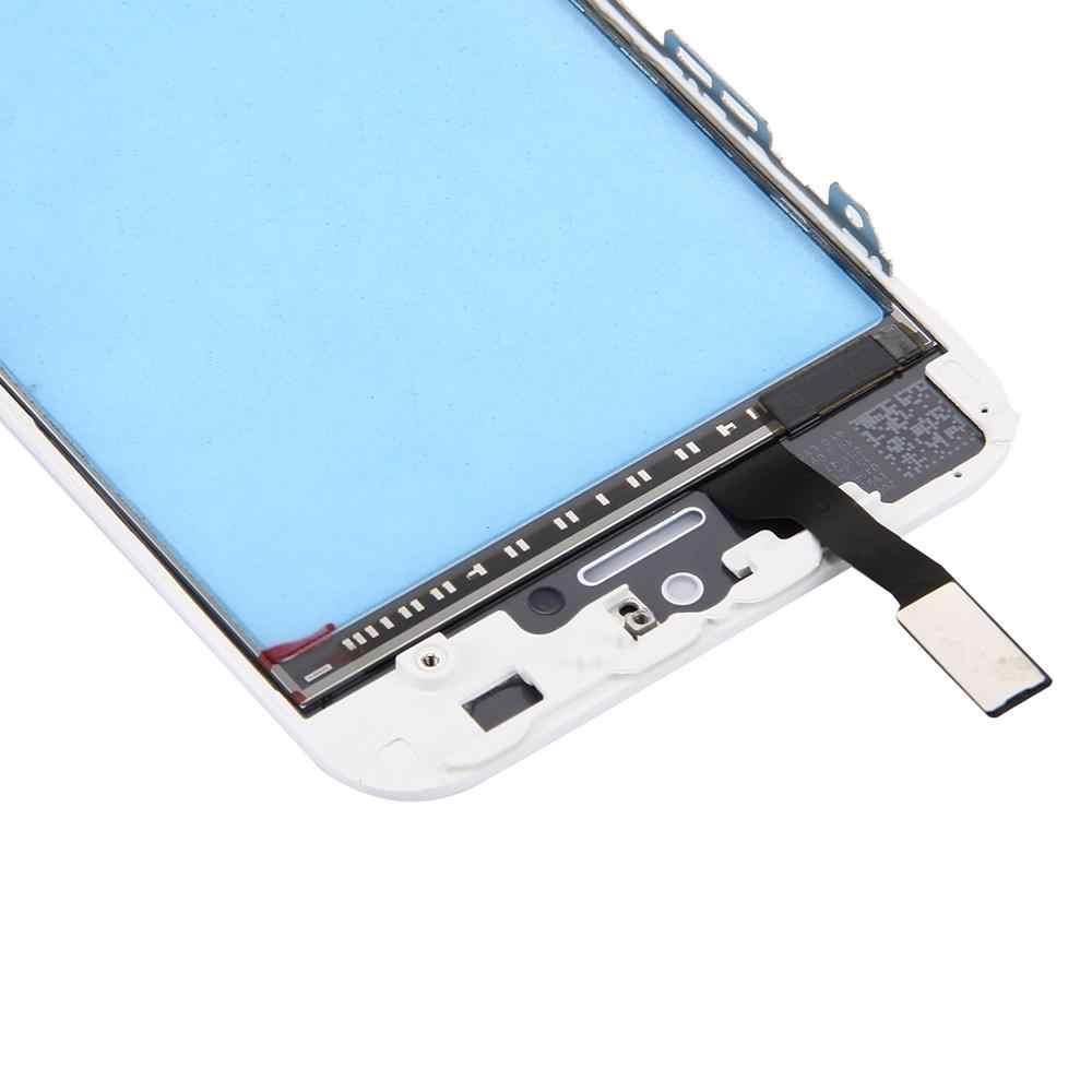 Новинка для iPhone 5S сенсорная панель с передней ЖК-монитор bezel рамка & OCA оптически прозрачный клей для iPhone 5S