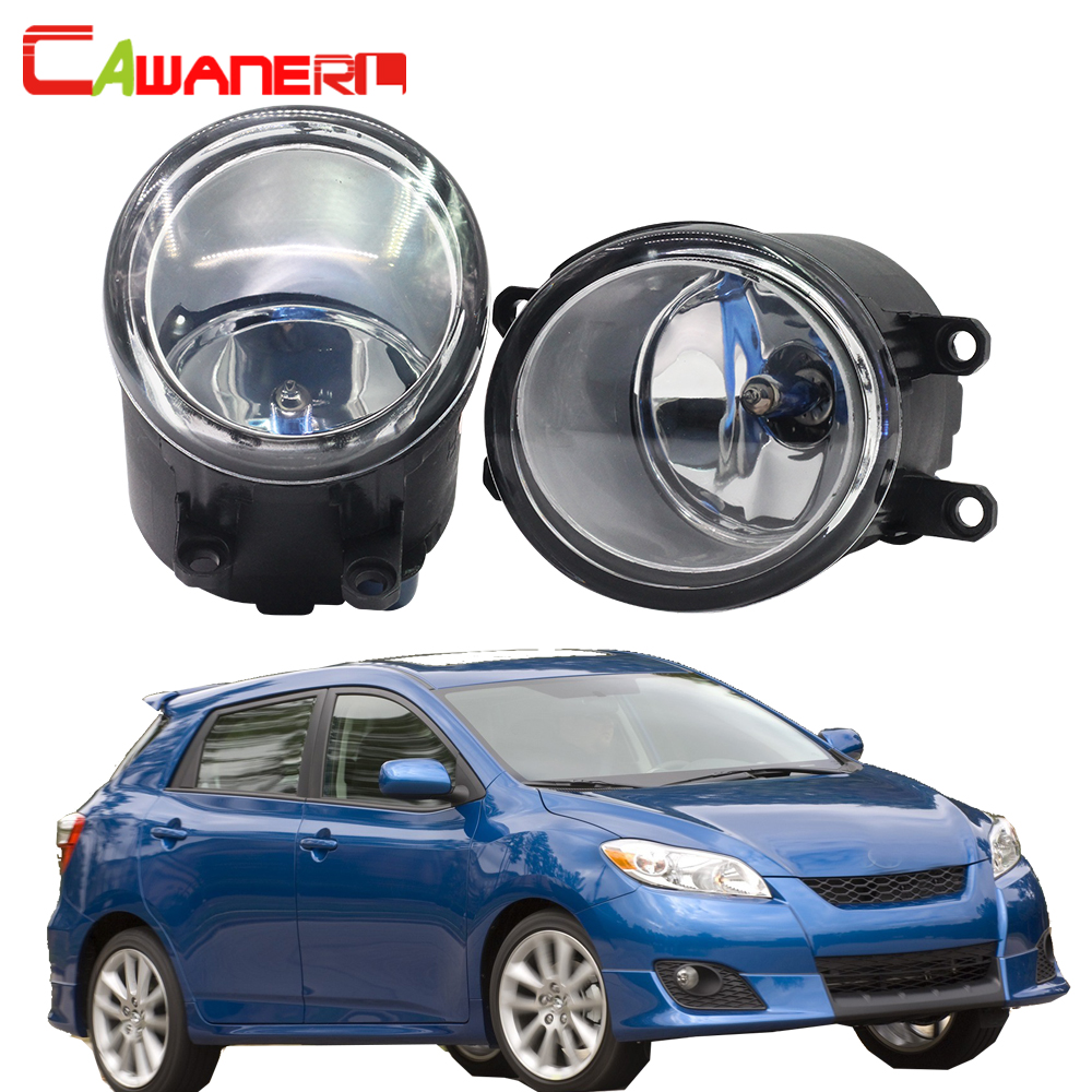 Cawanerl 2 Pieces 100W Car Halogen Fog Lamp Daytime Running Light DRL High Power For 2008-2013 Toyota Matrix cawanerl 2 x car led fog light drl daytime running lamp 12v white for toyota prius hatchback zvw3 1 8 hybrid 2009 onwards