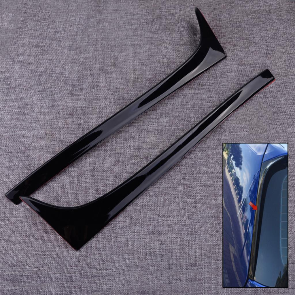 DWCX 2Pcs Car Rear Window Side Spoiler Wing Fit For VW <font><b>GOLF</b></font> MK7 MK7.5 <font><b>R</b></font> GTE GTD image