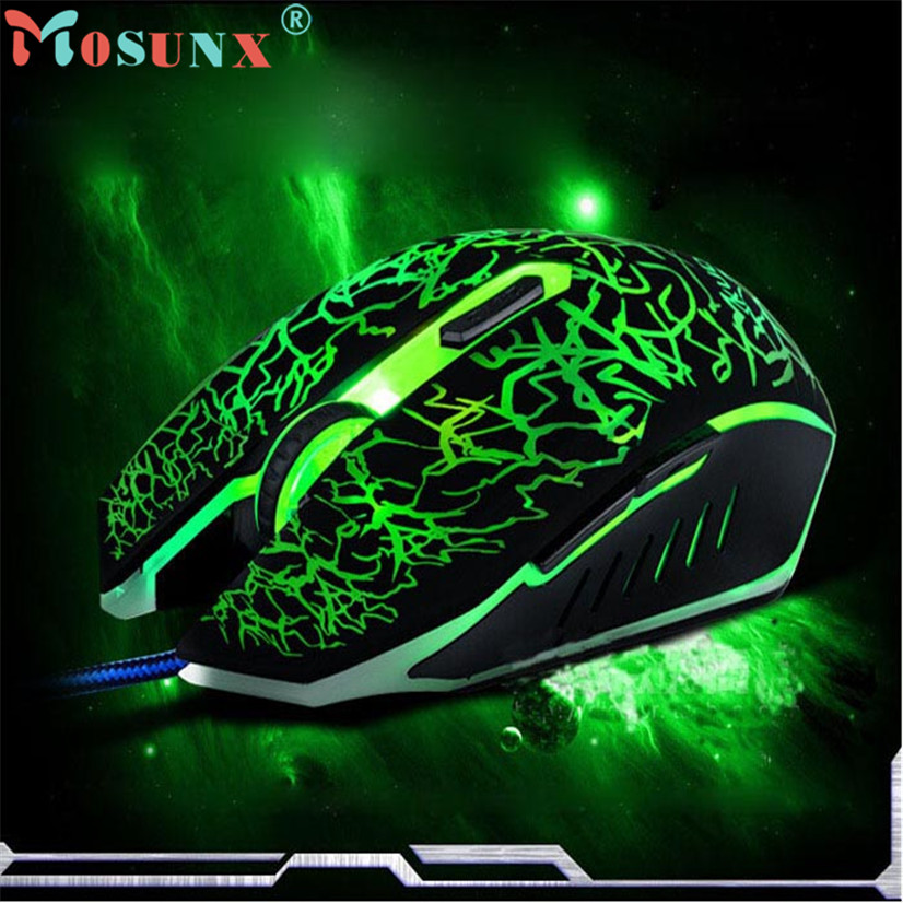 Professional Ergonomically Colorful Backlight 4000DPI Optical Wired Gaming Mouse MOSUNX Futural Digital Hot Selling F20