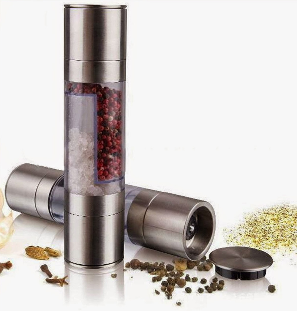 где купить 2016 New 2 In 1 Stainless Steel Manual Pepper Salt Spice Mill Grinder Stick Kitchen Tool Cooking Tools Kitchen Accessaries дешево
