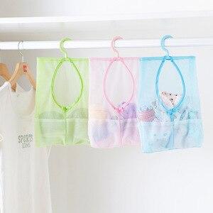 Image 2 - Màu Sắc Đa Năng Treo Lưu Trữ Đựng Đồ Giặt Nhiều Màu Lưới Bảo Quản Quần Áo Lồng Đồ Chơi Túi Bảo Quản Đồ Gia Dụng