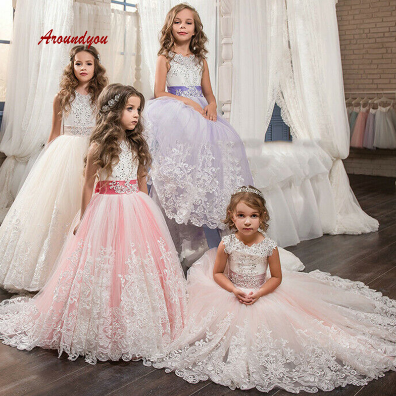 Cute   Flower     Girl     Dress   for Party and Weddings Pageant First Holy Communion   Girls     Dress   for   Girls   Gown 2019
