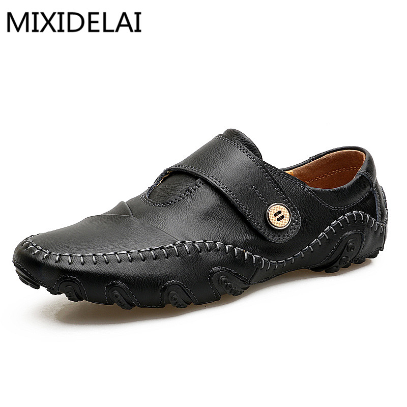 High Quality Men Loafers Leather Casual Shoes Men Loafers Luxury Brand Men Shoes Genuine Leather Men Falts Shoes Mocasines
