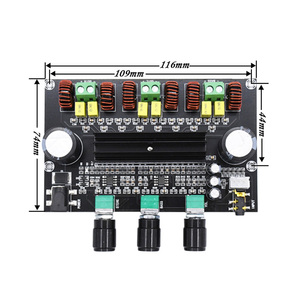 Image 3 - XH M573 TPA3116D2 80W+80W+100W 2.1 Channel TPA3116 digital Power Amplifier Board Bass Subwoofer hifi amplifiers B2 002