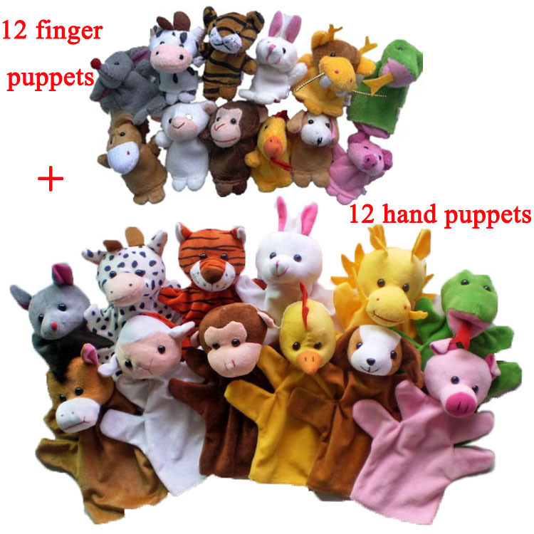 Jnj My Store >> Free Shipping Lovely kids baby Plush Toy Chinese Zodiac Farm Animals Learning Aid animal doll 12 ...
