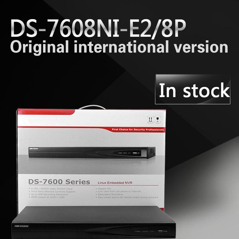 На складе DS-7608NI-E2/8 P 8-КАНАЛЬНЫЙ видеорегистратор с 2 SATA и 8 портов POE, HDMI и VGA выход Встроенный Разъем & Play NVR POE