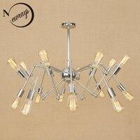 Modern Iron Spider Pendant Light Loft Industrial Lamp Retro LED E27 With 6 8 10 16
