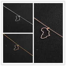 hollow Africa Map Necklace Egypt South Africa Kenya Nigeria Map Africa Pendant Necklace Jewelry Hometown Lucky Clavicle Necklace south africa 07
