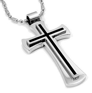 Choker necklace womenmen jewelry white gold jesus cross pendant choker necklace womenmen jewelry white gold jesus cross pendant chain sharp sides rhinestone hip hop cuban necklace chain gift in choker necklaces from aloadofball Gallery