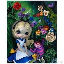 Diy diamond painting cross stitch embroidery Cartoon animated little girl mosaic Handmade childrens decorations