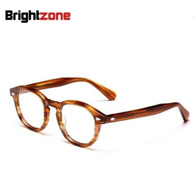 8357d547ded19 Brightzone Alta Qualidade Vogue Vintage Cheio Unisex Frame Ótico Acetato de Óculos  Óculos Frames Óculos Oculos