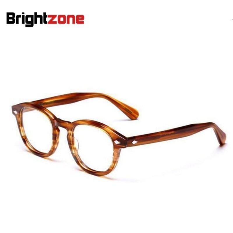 Brightzone High Quality Vogue Vintage Full Unisex Acetate Optical Frame Eyeglasses Spectacles Frames Prescription <font><b>Glasses</b></font> Oculos