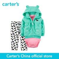 Carter S 3 Piece Baby Children Kids Fleece Cardigan Set 121G767 Sold By Carter S China
