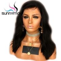 Sunnymay 150% ondulado corto Encaje frente Cabello humano con el pelo del bebé Malasia remy hair pre plucked Encaje frente Pelucas para mujeres