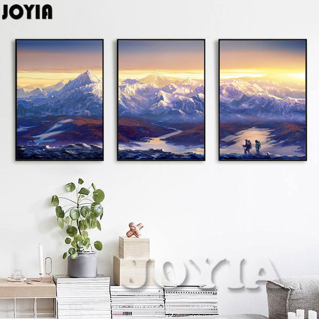 Large Canvas Prints Wall Art 3 Piece Scenery Pictures Continuous ...