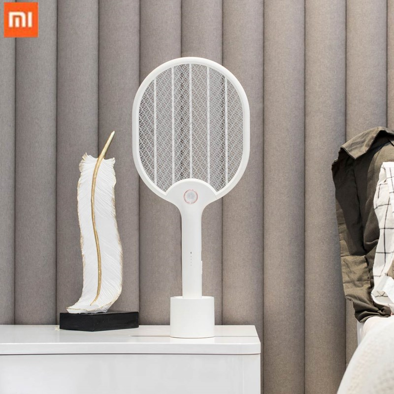Xiaomi Jordan&judy Electric Mosquito Swatter USB Charging Mosquito Dispeller Three-layer Anti-electric Shock Net image