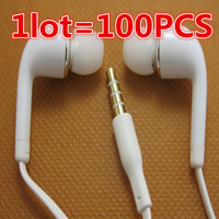 Hot Sale 100pcs Lot S4 J5 Earphones Headsets In Ear Headphones Hands Free With Mic For