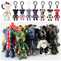 17 Styles Popobe Bear Keychains Pendant for Backpack Car Keyring Toy Key Chain Holder Keyfob Jewerly Accessories Gifts