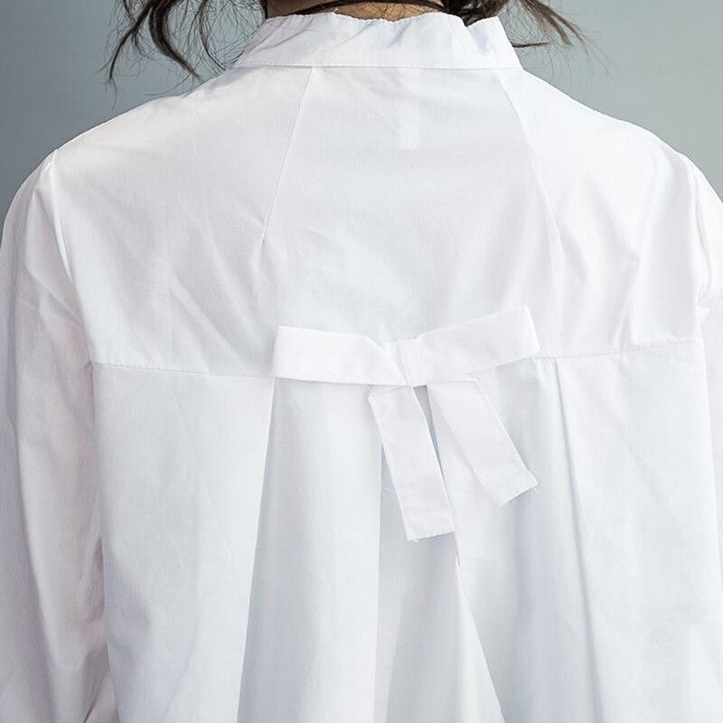Suelta Verano See Las Ropa 24 Manga Arco Chart Blanco Tamaño 0 Más Larga Blusa Camisetas 100 Señora 2019 Moda Algodón De La Mujeres Kg 4Bq66Ax