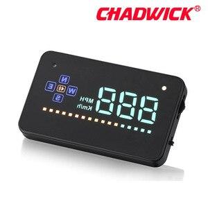 Image 5 - HUD Digital GPS velocímetro Head Up pantalla Auto parabrisas proyector electrónica coche velocidad proyector CHADWICK A2 Accesorios