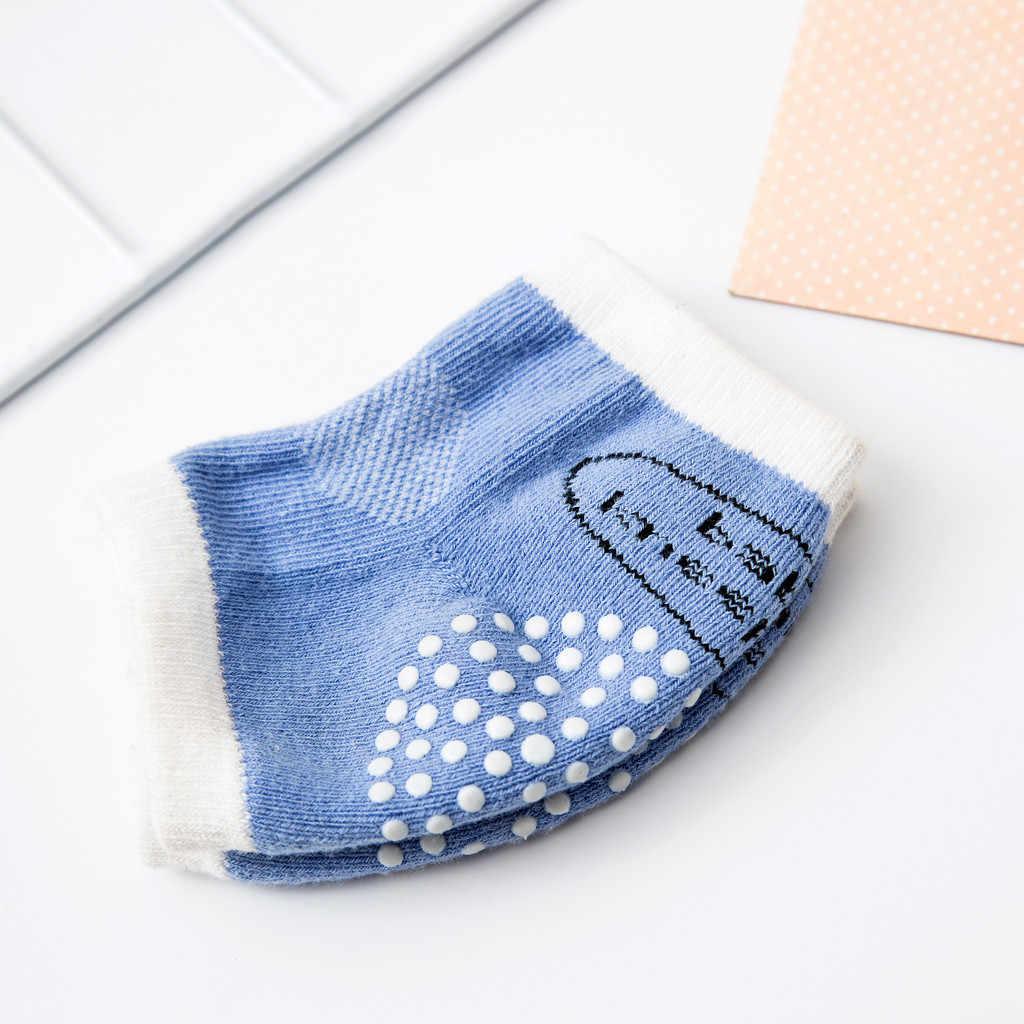Pasgeboren Baby EEN Paar Anti-slip En Anti-val Van Kind Bescherming Sok Katoen Peuters Baby Baby Anti -Slip Veiligheid Kruipen Knie