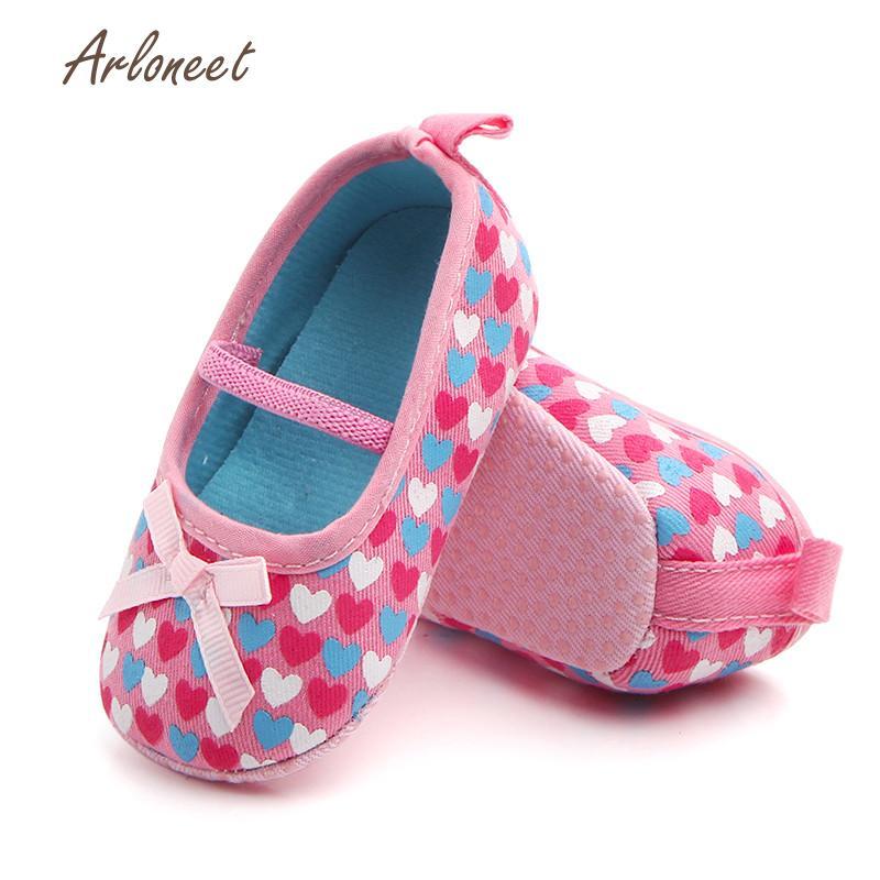 ARLONEET Babies Shoes Sneaker Anti-Slip Heart-Print Girls Boys Fashion Soft DE29 Bowknot