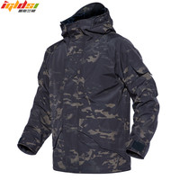 Men Winter Jacket and Coats Warm Waterproof Windproof Tactical Jacket Windbreakers Combat Camouflage Army Down Parkas Coats