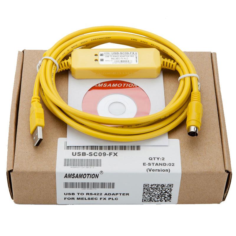 USB-SC09-FX PLC Programming Cable For compatible FX-USB-AW Immunity FX2N/FX1N/FX0/FX0N/FX0S/FX1S/FX3U free shipping new original usb sc09 fx plc programming cable driver