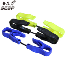 5PCS CUSTOM UTILITY GUARD CLIP Safety Zone Breakaway Glove Clip For Fire Fishing Equipment Cutting Electronic Gloves AT-Three