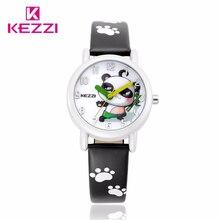 KEZZI Nouvelle Marque Casual Montre Enfants Mignon de Bande Dessinée Panda Motif Doux Style Quartz Montre-Bracelet Populaires Enfants Couleur Horloge K1518
