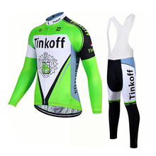 Can Mix Size!2017 Pro Team Long Sleeve Tinkoff Cycling Jersey/Fluo Green Ropa Maillot Ciclismo Autumn Bicycle MTB Bike Clothing