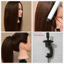 Манекен продажи манекен maniqui манекен головы прически 80% настоящие волосы Учебные головы-манекены укладки волос манекены Манекен Manequin