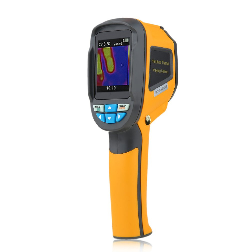Precision Protable Thermal Imaging Camera Infrared Thermometer Imager -20~300 Degree HT-02 2.4 Inch High Resolution Color Screen