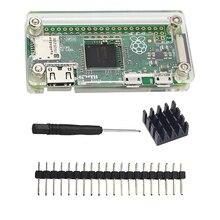 Малина Pi zero w 4 в 1 комплект акрил чехол + теплоотвод + Отвёртки + GPIO разъем для Raspberry PI zero V1.3