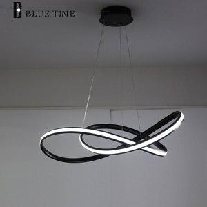 Image 5 - Üst Satış Öğe Beyaz Siyah Altın Modern Led Avize Işıkları Oturma Odası Yatak Odası Için Led Avize Aydınlatma Armatürleri AC110V 220 V